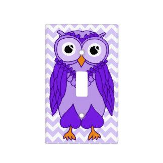 Owl Light Switch Cover: Purple Chevron Owl Light Switch Plate