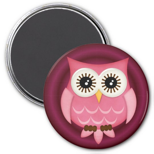Owl Locker Magnets, Refrigerator Back to school 3 Inch Round Magnet
