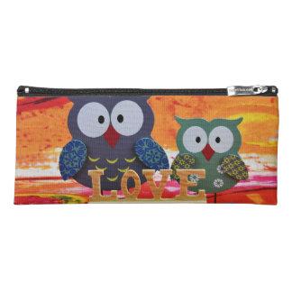 Owl love pencil case