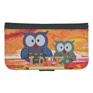Owl love samsung s4 wallet case