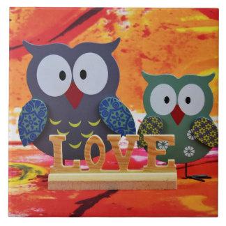 Owl love tile