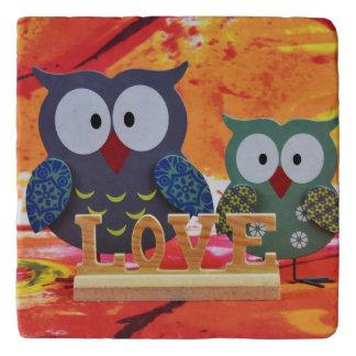Owl love trivet