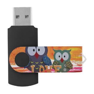 Owl love USB flash drive