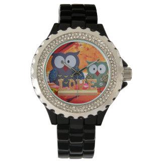 Owl love wristwatch