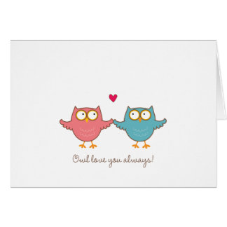 owl love you card