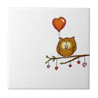 Owl love you - Valentine's Day gift Ceramic Tiles