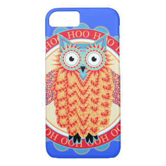 Owl Lover's Cute Colorful Night Owl iPhone 8/7 Case