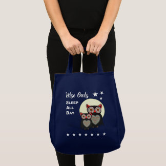 Owl Lovers Super Cute Funny Novelty Tote Bag