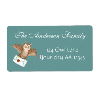 Owl mail address shipping label