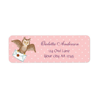 Owl mail address return address label