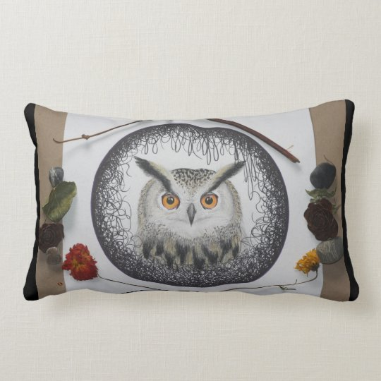 Owl Mandala Throw Pillow