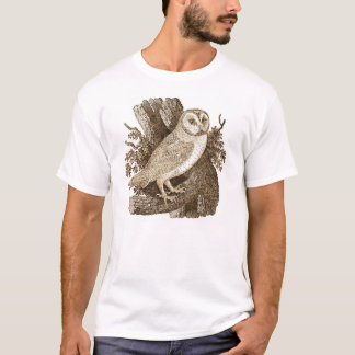 Owl Men's Fitted Crew Neck T-Shirt