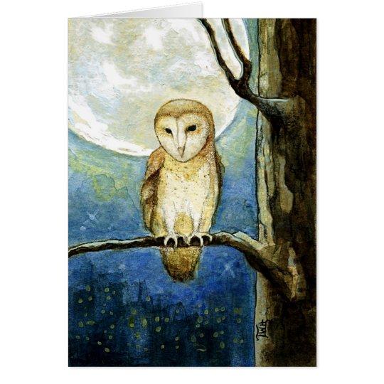 Owl Moon Blank Greeting Card