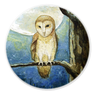 """Owl Moon"" Ceramic Knob"