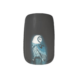 Owl Nail Art with Black