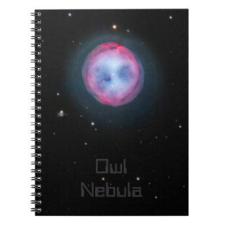 Owl Nebula Spiral Notebook