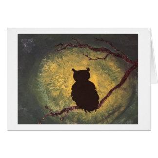 Owl Night Card