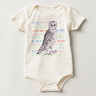 Owl Noises - Too Wit Too Woo - Baby Outfit Baby Bodysuit