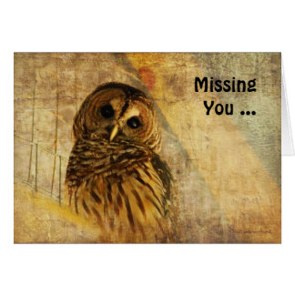 Owl Note Card - Missing You