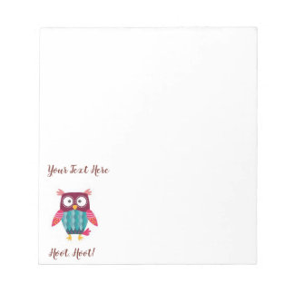 Owl Note Pad