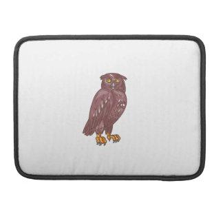 Owl Observing Looking Drawing MacBook Pro Sleeves