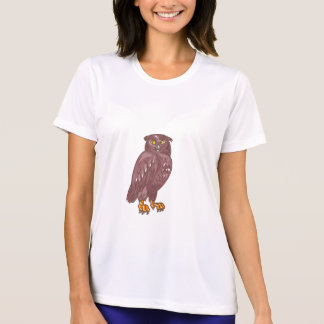 Owl Observing Looking Drawing T-Shirt