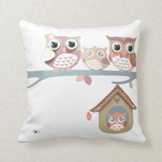 Owl of Sweden Throw Pillow