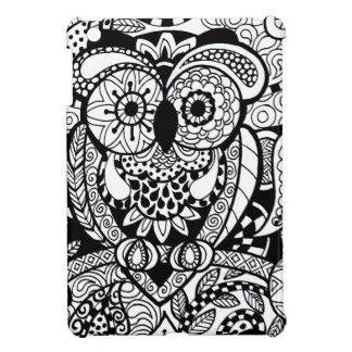 Owl of Wishes Color Your Own Zendoodle Products iPad Mini Cases