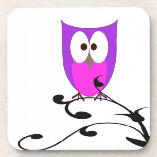 Owl on a Branch Coaster