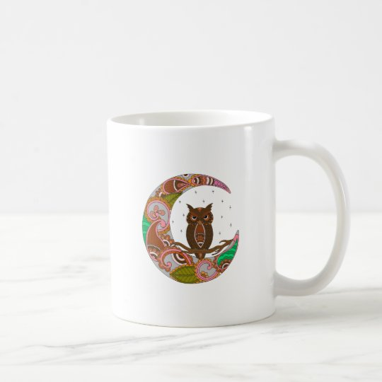 Owl on Moon Coffee Mug