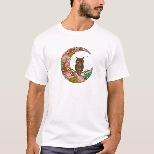 Owl on Moon T-Shirt
