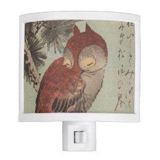 Owl on Pine by Ichiryusai Hiroshige Night Light