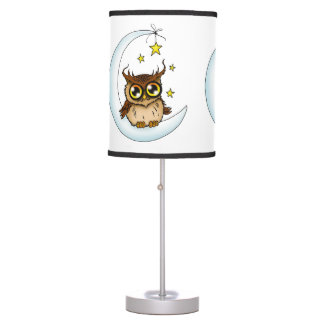 Owl on the Moon Table Lamp