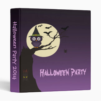 Owl on tree branch Halloween Party Photo Album Vinyl Binder