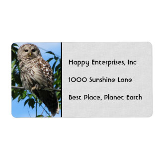 Owl On Wire Labels