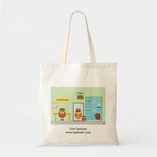 Owl Optician Tote Bag