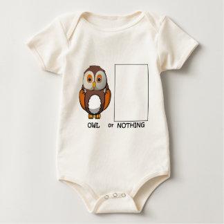 Owl Or Nothing Pun Baby Bodysuit