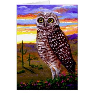 Owl Original Art Bird Wildlife Creationarts Card