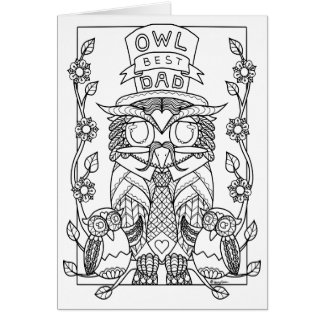 owl our best dad Fathers day card