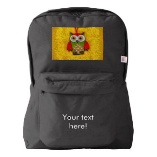 Owl painting backpack