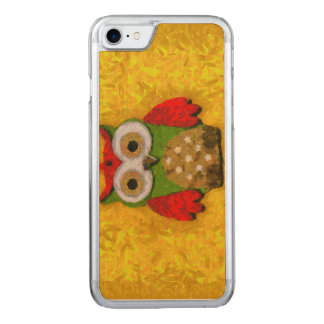 Owl painting carved iPhone 7 case