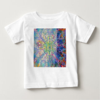 Owl Painting in Cool Gem Tones Baby T-Shirt