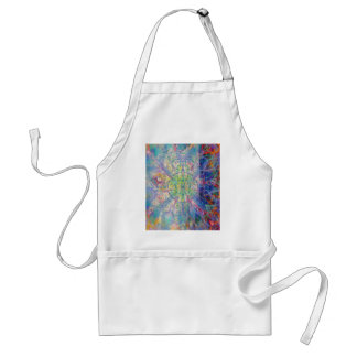 Owl Painting in Cool Gem Tones Standard Apron