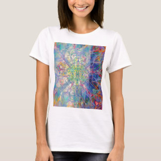 Owl Painting in Cool Gem Tones T-Shirt