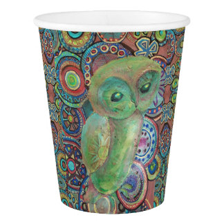 owl paper cup