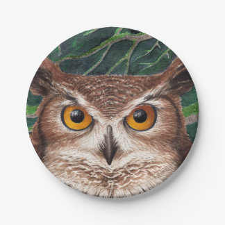 Owl Paper Plate