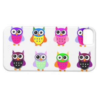 Owl party retro kawaii cute colorful owls iPhone Case For The iPhone 5
