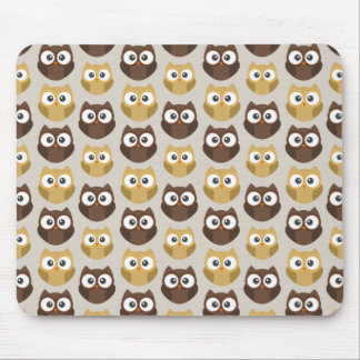 Owl patterned mouse pad