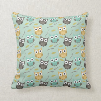 Owl Patterned Pillow