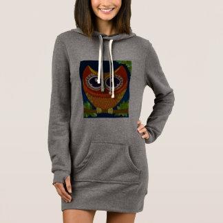 Owl Perch Sweatshirt Dress